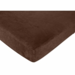 Sweet JoJo Designs All Star Sport Fitted Crib Sheet in Solid Chocolate Microsuede