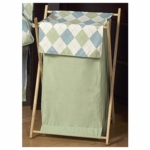 Sweet JoJo Designs Argyle Green & Blue Hamper