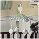 Sweet JoJo Designs Argyle Green & Blue Musical Mobile