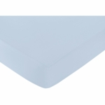 Sweet JoJo Designs Avery Gray & Blue Crib Sheet in Blue