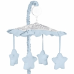 Sweet JoJo Designs Avery Gray & Blue Musical Mobile