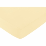 Sweet JoJo Designs Avery Gray & Yellow Crib Sheet in Yellow