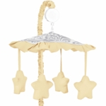 Sweet JoJo Designs Avery Gray & Yellow Musical Mobile
