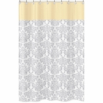 Sweet JoJo Designs Avery Gray & Yellow Shower Curtain