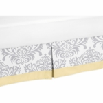 Sweet JoJo Designs Avery Gray & Yellow Toddler Bed Skirt
