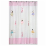 Sweet JoJo Designs Ballerina Shower Curtain