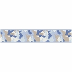 Sweet JoJo Designs Camo Blue Wallpaper Border