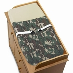 Sweet JoJo Designs Camo Green Changing Pad Cover