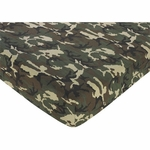 Sweet JoJo Designs Camo Green Crib Sheet