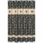 Sweet JoJo Designs Camo Green Shower Curtain