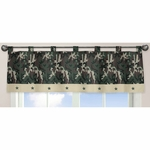 Sweet JoJo Designs Camo Green Window Valance