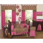 Sweet JoJo Designs Cheetah Girl 9 Piece Crib Bedding Set