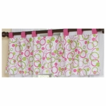 Sweet JoJo Designs Circles Pink Window Valance