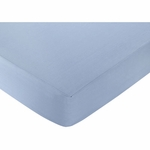 Sweet JoJo Designs Come Sail Away Solid Blue Crib Sheet