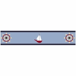 Sweet JoJo Designs Come Sail Away Wallpaper Border