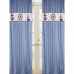 Sweet JoJo Designs Come Sail Away Window Panels - Set of 2