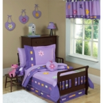 Sweet JoJo Designs Danielle's Daisies 5 Piece Toddler Bedding Set
