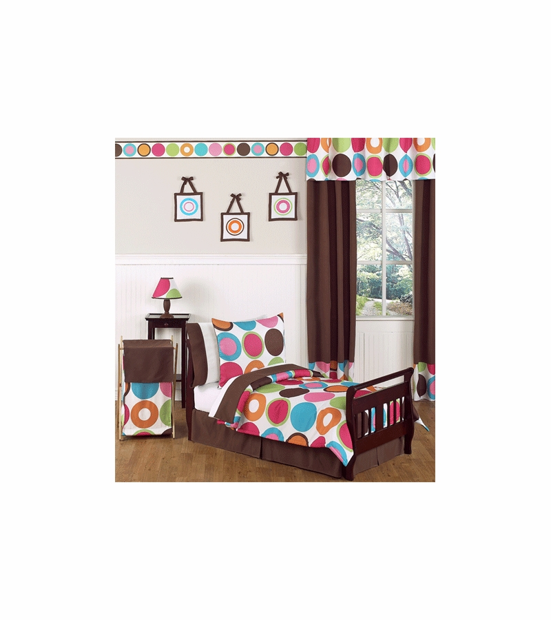 Sweet jojo designs deco dot 5 piece toddler bedding set - Deco babybed ...