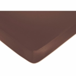 Sweet JoJo Designs Deco Dot Crib Sheet in Chocolate Brown