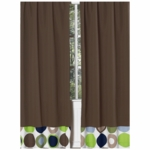Sweet JoJo Designs Designer Dot Chocolate Brown Window Panels