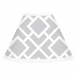 Sweet JoJo Designs Diamond Gray & White Lamp Shade