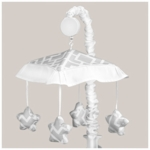 Sweet JoJo Designs Diamond Gray & White Musical Mobile