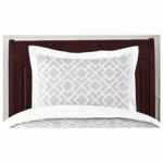 Sweet JoJo Designs Diamond Gray & White Pillow Sham