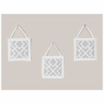 Sweet JoJo Designs Diamond Gray & White Wall Hangings