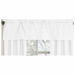 Sweet JoJo Designs Diamond White Window Valance