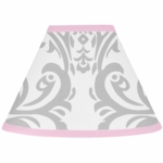 Sweet JoJo Designs Elizabeth Grey & Pink Lamp Shade