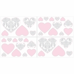 Sweet JoJo Designs Elizabeth Grey & Pink Wall Decals