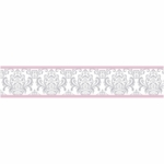 Sweet JoJo Designs Elizabeth Grey & Pink Wallpaper Border