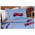 Sweet JoJo Designs Firetruck Pillow Sham