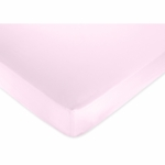 Sweet JoJo Designs Flower Pink and Green Crib Sheet in Light Pink