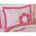 Sweet JoJo Designs Flower Pink and Green Pillow Sham