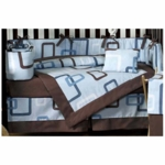 Sweet JoJo Designs Geo Blue 9 Piece Crib Bedding Set