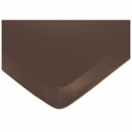 Sweet JoJo Designs Geo Blue Crib Sheet in Solid Chocolate