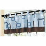 Sweet JoJo Designs Geo Blue Window Valance