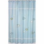 Sweet JoJo Designs Go Fish Shower Curtain