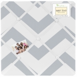 Sweet JoJo Designs Gray & White Chevron Fabric Memo Board