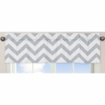 Sweet JoJo Designs Gray & White Chevron Window Valance