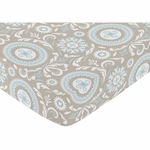 Sweet JoJo Designs Hayden Crib Sheet - Medallion Print