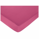 Sweet JoJo Designs Hot Dot Crib Sheet in Hot Pink
