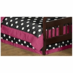 Sweet JoJo Designs Hot Dot Toddler Bed Skirt