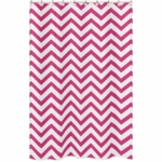 Sweet JoJo Designs Hot Pink & White Chevron Shower Curtain