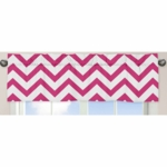 Sweet JoJo Designs Hot Pink & White Chevron Window Valance