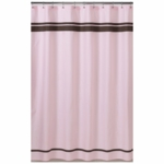 Sweet JoJo Designs Hotel Pink & Brown Shower Curtain