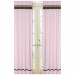 Sweet JoJo Designs Hotel Pink & Brown Window Panels