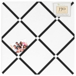 Sweet JoJo Designs Hotel White & Black Fabric Memo Board