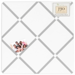 Sweet JoJo Designs Hotel White & Gray Fabric Memo Board